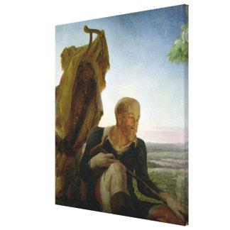 St Joseph from 'Rest on the Flight into Egypt' Canvas Print