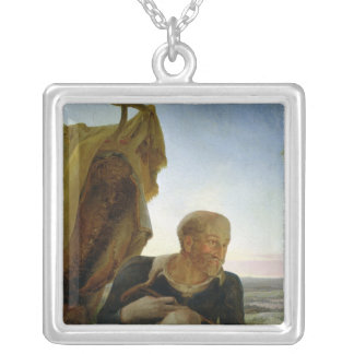 St Joseph from 'Rest on the Flight into Egypt' Silver Plated Necklace