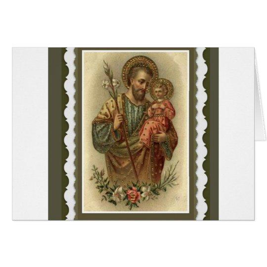 St. Joseph Greeting Card w/prayer