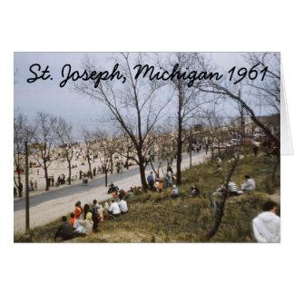 St. Joseph Michigan Bluff 1961 Greeting Card