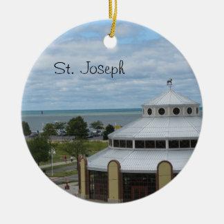 St. Joseph, Michigan Round Ceramic Decoration