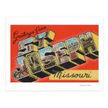 St. Joseph, Missouri - Large Letter Scenes Postcard