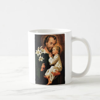 St. Joseph mug w/prayer on reverse