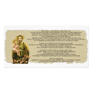 St Joseph Novena Personalized Photo Card