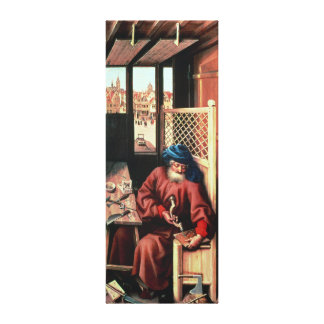 St. Joseph Portrayed as a Medieval Carpenter Canvas Print