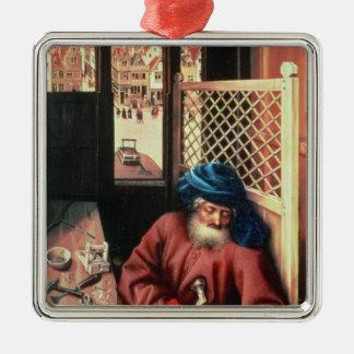 St. Joseph Portrayed as a Medieval Carpenter Christmas Ornament
