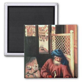 St. Joseph Portrayed as a Medieval Carpenter Magnet