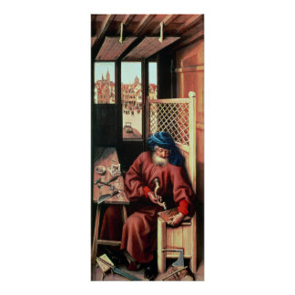 St. Joseph Portrayed as a Medieval Carpenter Poster