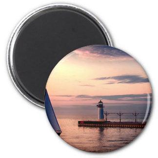 St. Joseph Sailboat 6 Cm Round Magnet