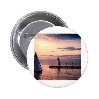 St. Joseph Sailboat Pinback Buttons