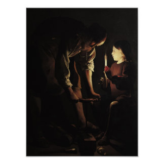 St. Joseph, the Carpenter, c.1640 Poster