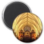 St. Joseph's Cathedral - Choir Loft / Organ Pipes 6 Cm Round Magnet