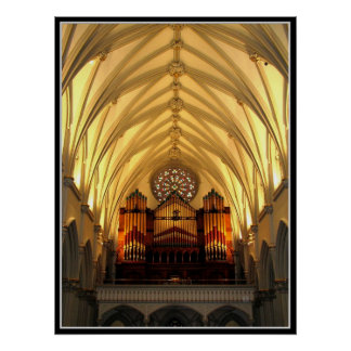 St. Joseph's Cathedral - Choir Loft / Organ Pipes Posters