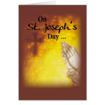 St. Joseph's Day Praying Hands Greeting Cards