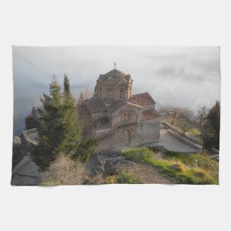 St. Jovan's Church on Lake Ohrid, Macedonia Tea Towel