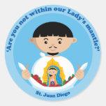 St. Juan Diego Round Sticker