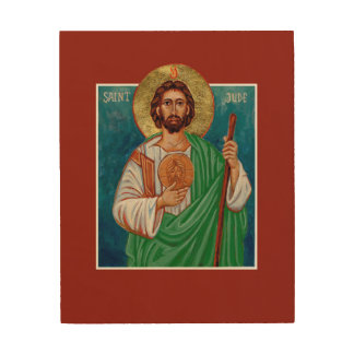 St. Jude Icon - Patron of Lost & Desperate Causes Wood Print