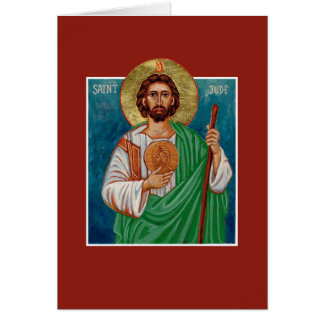 St Jude Thaddeus Icon | Lost Causes | Blank Card