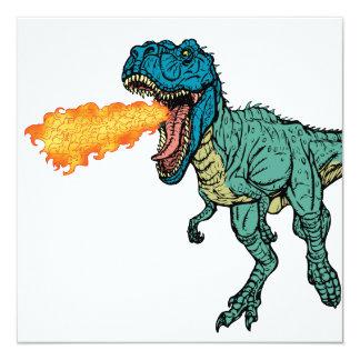 St Judeasaurus Rex by Steve Miller 13 Cm X 13 Cm Square Invitation Card
