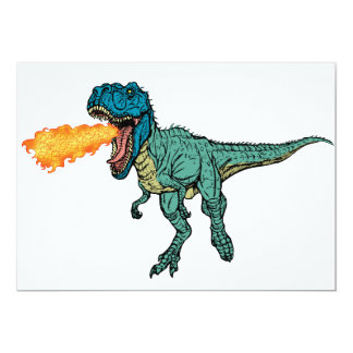 St Judeasaurus Rex by Steve Miller 13 Cm X 18 Cm Invitation Card