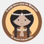 St. Kateri Tekakwitha Round Stickers