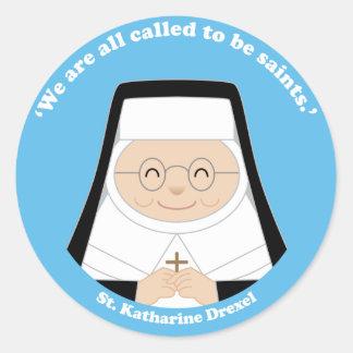 St. Katharine Drexel Round Stickers