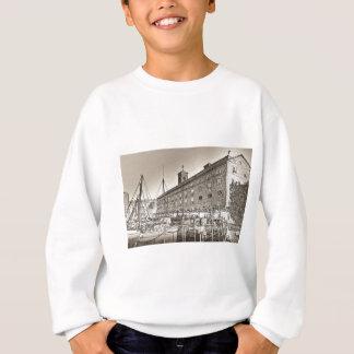 St Katherine's Dock London sketch Sweatshirt