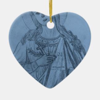 St Katherine's Icon.JPG Ceramic Heart Decoration
