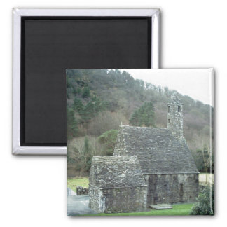 St.Kevins Church,Glendalough,Co.Wicklow,Ireland Square Magnet