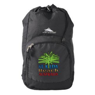 St.Kilda Beach backpack bold logo