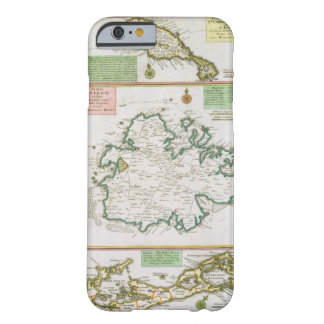St. Kitts, Antigua and Bermuda, detail from a map Barely There iPhone 6 Case
