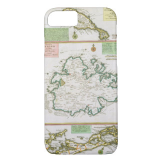 St. Kitts, Antigua and Bermuda, detail from a map iPhone 8/7 Case