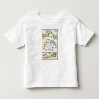St. Kitts, Antigua and Bermuda, detail from a map Toddler T-Shirt
