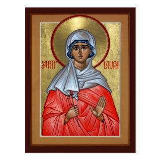 St. Laura Prayer Card Postcard
