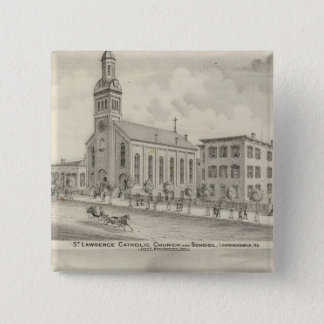 St Lawrence Catholic Church and School 15 Cm Square Badge
