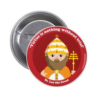 St. Leo the Great 6 Cm Round Badge
