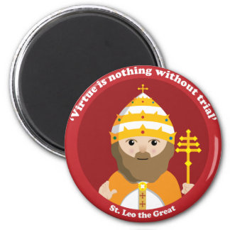 St. Leo the Great 6 Cm Round Magnet