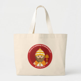 St. Leo the Great Large Tote Bag