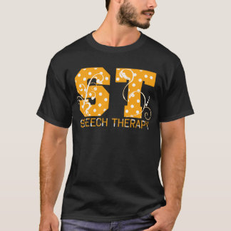 st letters orange and white polka dots T-Shirt