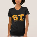 st letters orange and white polka dots tshirts