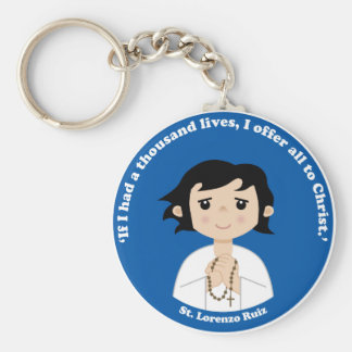 St. Lorenzo Ruiz Basic Round Button Key Ring
