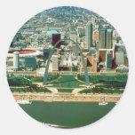 St. Louis Arch and Skyline Classic Round Sticker