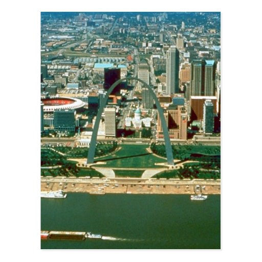 St. Louis Arch and Skyline Postcard