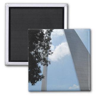 St. Louis Arch Square Magnet