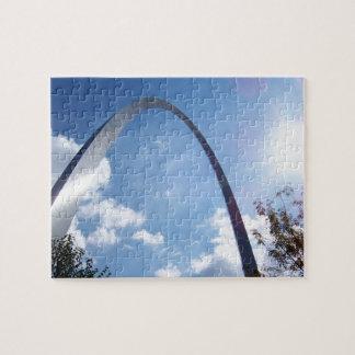 St Louis Arch Sunburst Jigsaw Puzzle