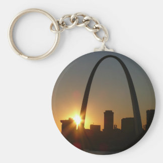 St. Louis Arch Sunset Key Ring