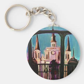 St Louis Basic Round Button Key Ring