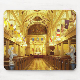 St Louis Cathedral (interior), New Orleans, LA Mouse Mat