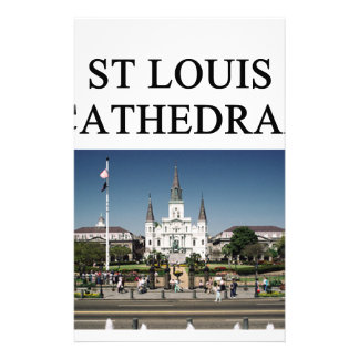 ST LOUIS CATHEDRAL new orleans Stationery Design