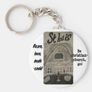 St. Louis christian keychain